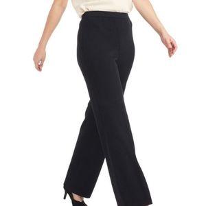 St. John Basics black wide leg knit pants size 4